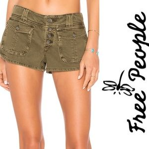 Free People Cora Botton short